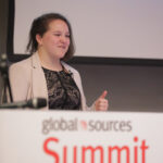 Samantha Rosenbaum presenting at Global Sources Summit