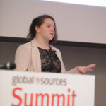 Samantha Rosenbaum presenting at Global Sources Summit for online sellers