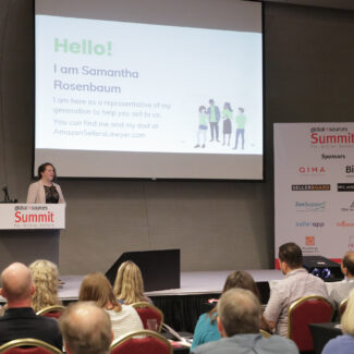 Samantha Rosenbaum talks at Global Sources Summit for online sellers